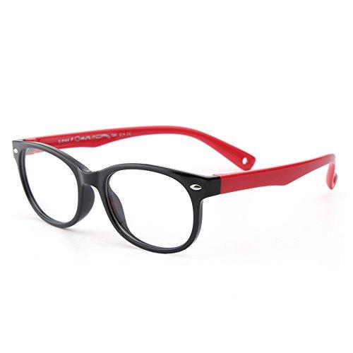 Forepin Kinder Brille Partybrille reg; Ohne Stärke Gläser Klassisch Nerdbrille Design mit Anti-verloren Gürtel für Jungen und Mädchen