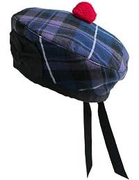 Tartanista - Béret/Balmoral - motifs tartan écossais (Highland)/plaid irlandais