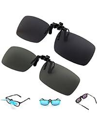 2 paia Occhiali da sole unisex polarizzati Occhiali da sole classici Occhiali da vista [antiriflesso] Guida / pesca / tiro Occhiali, uomini e donne- Rettangolo