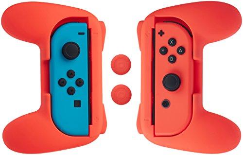 AmazonBasics - Kit de empuñaduras para mandos Joy-Con de Nintendo Swi