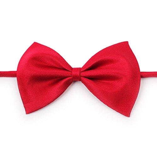 Ericoy Haustier Hund Katze Fliege Krawatte Kaffee Rot Bogen Größe: 9cm x 5cm, Hals 25cm - 40cm