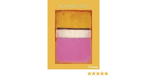 Wandkalender mit abstraktem Expressionismus 48 cm x 64 cm Rothko Kalender 2020 Kunstkalender teNeues-Verlag