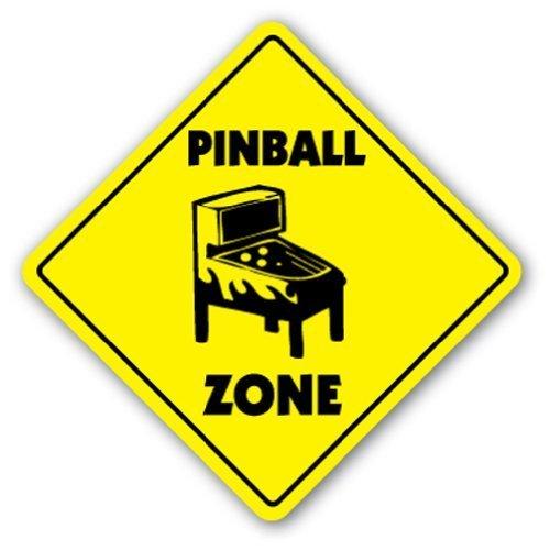 Funny Deko Schilder Pinball Zone Schild Teil Spiel Raum Arcade Machine Spiele Metall Aluminium Zeichen für Garagen, Wohnzimmer (Spiel-raum-zeichen)