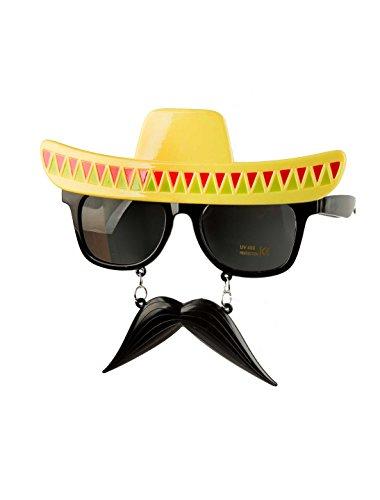 Deiters Brille Mexikaner mit Sombrero & Bart