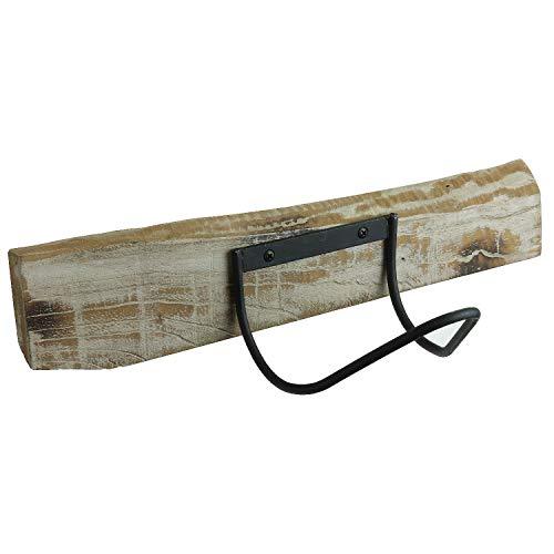 MACOSA PTM685046 Design Weinflaschenhalter Holz & Eisen | Wand-Regal | Industial Stil | dekoratives Weinregal | Schweberegal | Wand-Flaschenhalter