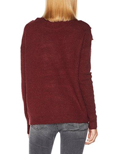 VERO MODA Damen Pullover Vmnovato Ls Boatneck Blouse Rot (Zinfandel)
