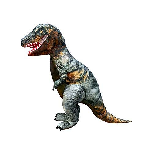 CLCYL Dinosaurier Aufblasbare Kostüm Kinder Aufblasbare Dinosaurier Kostüm T Rex Kinder Halloween Cosplay Tyrannosaurus Rex Tyrannosaurus Eltern-Kind Bühne Kleidung - Plüsch T Rex Kostüm Kind