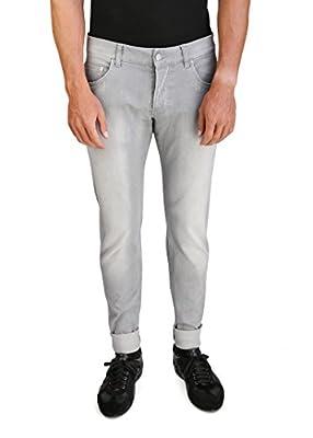 Prada Men's Slim Fit Jeans Pants Grey