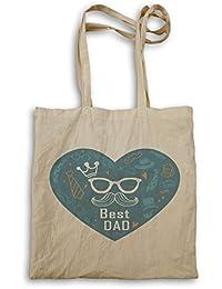 El mejor papá que el corazón azul bolso de mano o4r