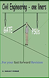 Civil Engineering - (Concepts oriented one liners): GATE and JE exam preparations