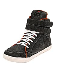 Eego Italy Black Canvas Mens Boots