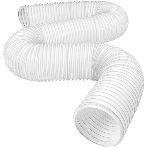 GEORGE Abluftschlauch KlimageräT Ø 128/130 mm 1.5m, Abluftschlauch Pvc Flexibel, GeräUscharm, Abluftschlauch HitzebestäNdiger Einziehbarer