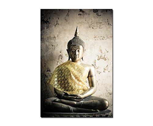 Thailand Buddha-statue (Paul Sinus Art 120x60cm - WANDBILD Buddha Thailand Statue - Leinwandbild auf Keilrahmen Modern Stilvoll - Bilder und Dekoration)