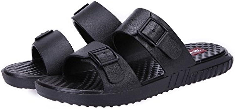 La cool verano zapatillas de playa en verano, sandalias zapatillas cool cool de hombres zapatillas, Negro,44