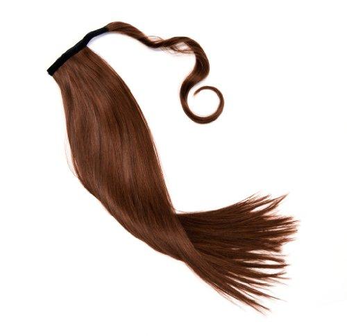 Haarteil in mahagoni Zopf Pferdeschwanz glatt 60 cm zum anklipsen Haarverlängerung Pony lange Haare