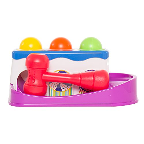 Baybee-Super-Durable-Roll-Toy-Hammer-Balls-Plan-Toy-Punch-for-kids-with-Sliding-Ramp-Learning-Toy-for-Toddlers-Includes-Hammer-4-Balls