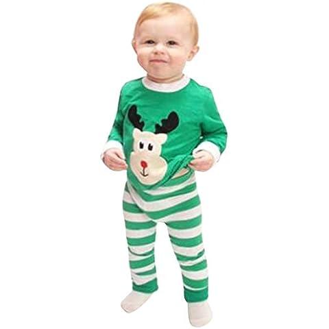 ZARU Bebé de la Navidad Elk impresión de banda de manga larga Top Trajes Set (1PC 1PC camisa +