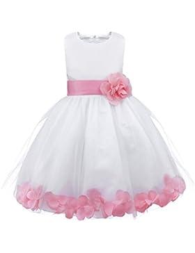 YiZYiF Mädchen Kleid Prinzessin Kleid Partykleid Festlich Hochzeits Blumenmädchen Kleider Gr. 92 98 104 110 116...