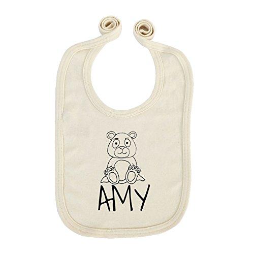 JOllipets Baby Kinder Lätzchen - AMY - 100% BIO ORGANISCH - Design: Bär - ONE SIZE - Amys Bären