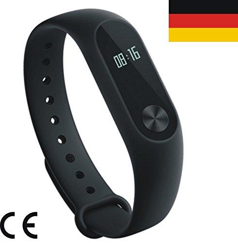 # ZINNZ Selected # internationale Version # Original XIAOMI Mi Band 2 Smart Fitness Sport Armband OLED-Display, IP67 wasserdicht und staubdicht mit Garantie