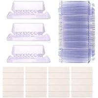 AIEX Portaetiquetas Etiqueta Visor Transparentes para Carpetas Colgantes, fácil de leer (2 pulgadas, 50 Etiquetas Papel + 50 Portaetiquetas)