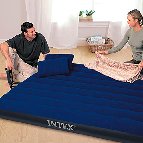 Intex Luftbett Classic Downy Blue Queen Set, blau, 152 x 203 x 22 cm/4-teilig - 3