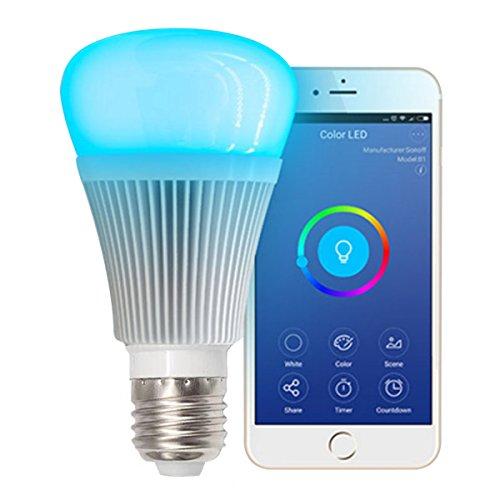 VIGICA Sonoff B1 Smart Home Lampe Dimmbare Led E27 WiFi Lampen RGBW Light Bulb Farbwechsel Glühbirne Party Timmer mit Amazon Alexa Fernbedienung per Smartphone IOS und Android ,kein Hub notwendig