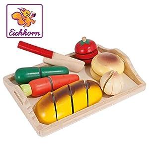 Tabla corte alimentos de madera de 17 piezas (Eichhorn 100003731)