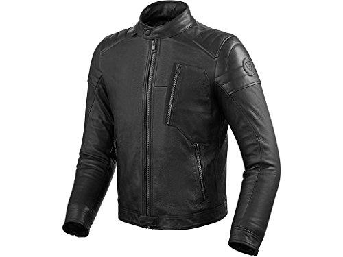 REVIT NAPLES Herren Motorrad Lederjacke City - schwarz Größe 52