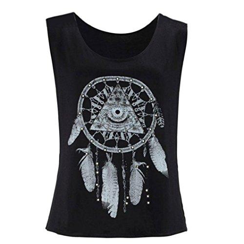 Ouneed® Femme Debareurs Ete Tshirt Attrape Reve Motif (S)