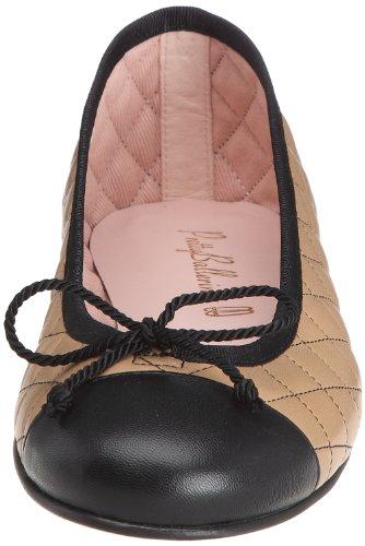 Pretty Ballerinas 36120-R, Ballerines femme Beige (Coton Negro / Coton Beige)