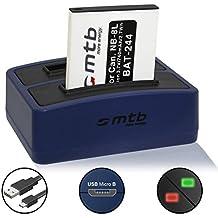 Batería + Cargador doble (USB) para Canon NB-8L | PowerShot A2200, A3000 IS, A3100 IS, A3150 IS, A3200 IS, A3300 IS, A3350 IS (contiene cable micro USB)