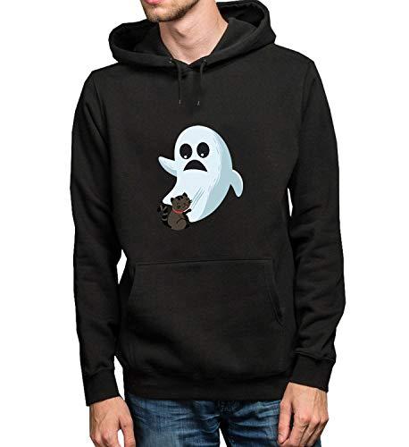 oween Edition_R3247 Hoodie Kapuzenpullover Jumper Sweater Pullover Sweatshirt Unisex Black Gift- M Black Hoodie ()