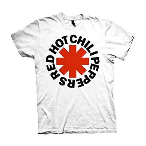 Red Hot Chili Peppers Asterisks Männer T-Shirt weiß. Offiziell lizenziert