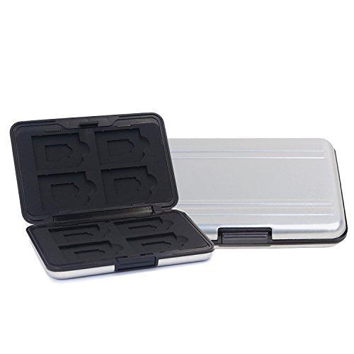 Preisvergleich Produktbild Owoda 16 Slot wasserdichte Aluminium SD / TF-Karten-Aufbewahrungsbox stoßfest Reise Tragetasche für 12 Stück SDHC / SDXC / Micro SD-Karte (weiß)