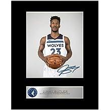 Jimmy Butler firmada foto enmarcada Minnesota Timberwolves