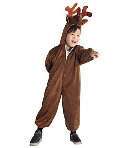 Elch-Kostüm, An74 Gr. 92-98, für Klein Kinder Hirsch Rentier Hirsch-Kostüme Elch-Kostüme Rentier-Kostüme für Fasching Karneval, Klein-Kinder Karnevalskostüme, Kinder-Faschingskostüme, Geburtstags-Geschenk