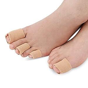 SOUMIT 1 Stück 10CM Zuschneidbar Zehen Schlauchbandagen | Silikon Zehenschutz/Finger Separator Protektoren Bandage zum Zuschneiden, Schmerzlinderung von Blasenbildung Hühneraugen & Komfort