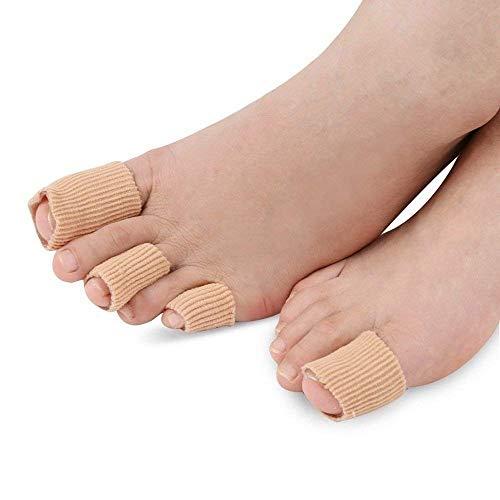 SOUMIT 1 Stück 15CM Zuschneidbar Zehen Schlauchbandagen | Silikon Zehenschutz/Finger Separator Protektoren Bandage zum Zuschneiden, Schmerzlinderung von Blasenbildung Hühneraugen & Komfort