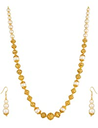 Aadita Pearl Heavy Necklace Set For Women And Girls
