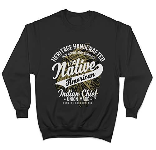 Generic Native American Heritage Handcrafted Goods Unisex Pullover/Sweatshirt - Schwarz - X-Large - American Heritage Sweatshirt