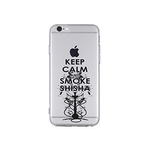 licaso Apple iPhone 6 Handyhülle Smartphone Apple Case aus TPU mit Keep Calm and Smoke Shisha Print Motiv Slim Design Transparent Cover Schutz Hülle Protector Soft Aufdruck Lustig Funny Druck