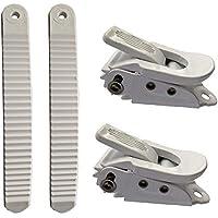 UP100® Piezas de unión de Snowboard Blanco 2 Hebillas y 2 Correas para Correa de Snowboard Tobillo/Dedo del pie Sistema de encuadernación (Tipo pequeño)