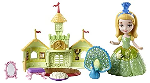 Disney Princesse Amber et paon dans son château