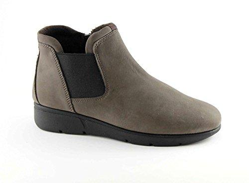 GRÜNLAND WELL PO0864 Taupe Schuhe Mitte beatles zeppetta Reißverschluss elastische Frau Marrone