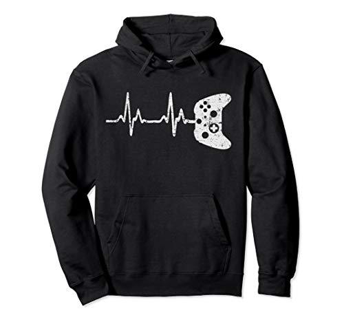 Gamer-Herzschlag-Videospiel-Liebhaber-Geschenk Pullover Hoodie