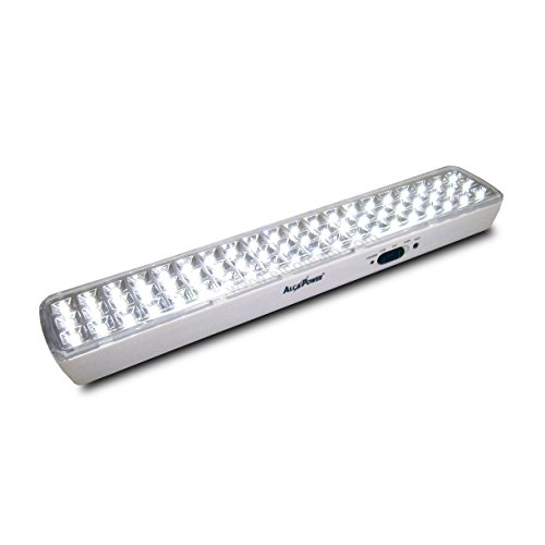 Lampe d'urgence rechargeable 60 lED montage au mur Horizontal ou Vertical