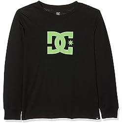 DC Shoes Star LS Boy Camiseta de Manga Larga, niños, Negro (Anthracite Solid), 10/S