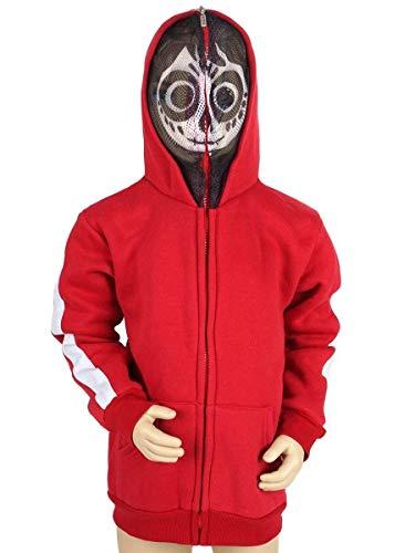 Kostüm Kapuzen Disney - KeySmart Coco Kinder Kapuzen Pullover von Miguel mit Totenkopfmaske, Größe: 110
