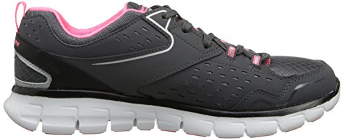Skechers SynergyFront Row, Sneakers basses femme Gris (Ccbk)
